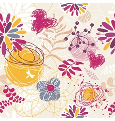 abstract seamless floral retro background vector image