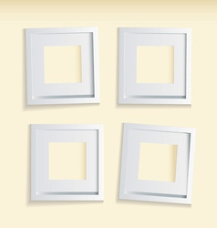 four modern clean picture frames vector image