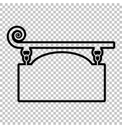 Wrought iron sign vector