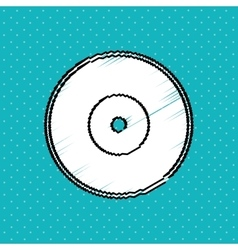 Record icon design vector