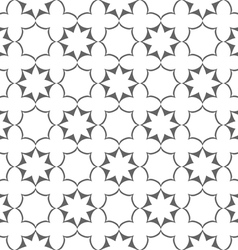 Seamless delicate stylized flowers and stars vector image