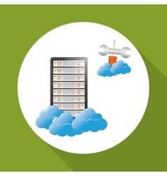 Data center cloud computing technology concept vector