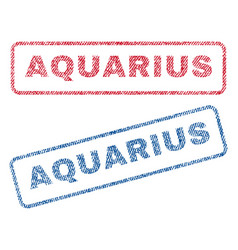 Aquarius textile stamps vector