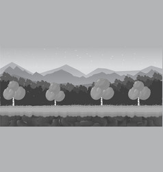 black and white cartoon forest game background vector image