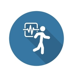 Cardio workout and medical services icon flat vector