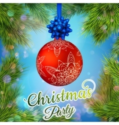Christmas night party poster or flyer EPS 10 vector image vector image