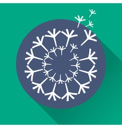 Concept dandelion in flat design vector
