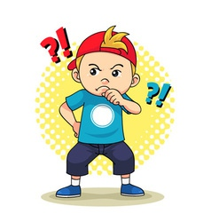 Curious Boy vector image vector image