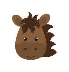Cute animal farm isolated icon design vector