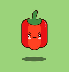 cute vegetable pepper cartoon character flat vector image vector image