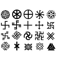 Different slavic symbols vector