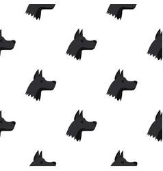 Doberman dog pattern seamless vector