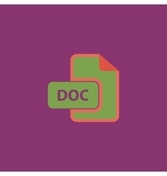 DOC file extension icon vector image vector image