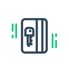 electronic pass icon card key vector image