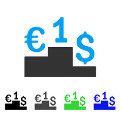 Euro dollar competition flat icon vector