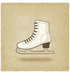Figure skate old background vector
