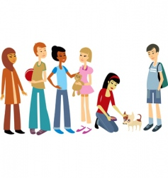 friends vector image