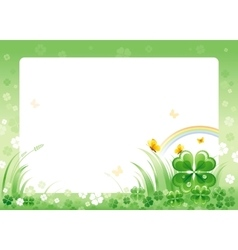 Happy saint patrick day border corner isolated vector