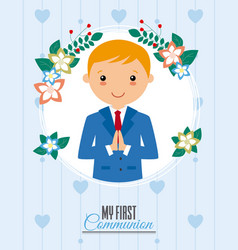 Invitation my first communion vector