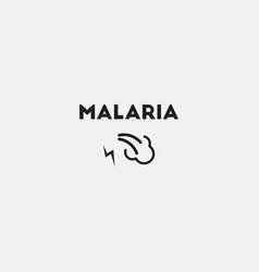 Malaria sign vector