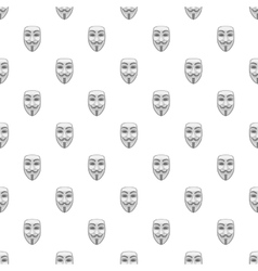 Mask of anonymous pattern cartoon style vector image vector image