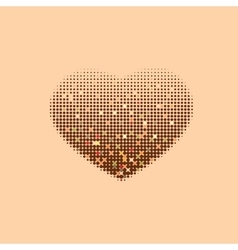 Modern decorative halftone heart on a beige vector image vector image