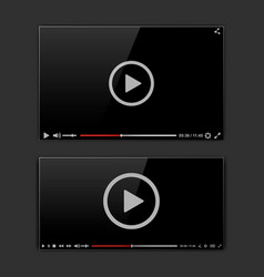 Modern video frame video player interface mokup vector