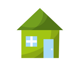 Nice house with architecture design icon vector