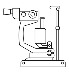 Phoropter ophthalmic testing device machine icon vector