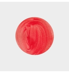 Round spot acrylic watercolor Red paint vector image vector image