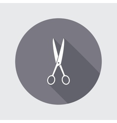 Scissors shears icon tool for cuting haircut vector