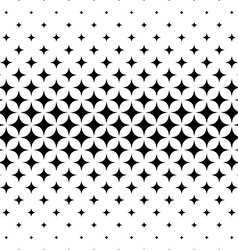 Seamless curved star pattern design vector image vector image