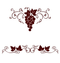 Set design elements - grape vector image vector image