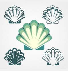 Shell symbols isolated on a white background vector