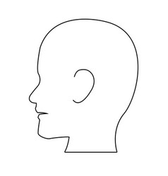 Silhouette head human man medical vector