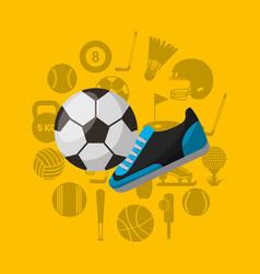 Soccer sport emblem icon vector