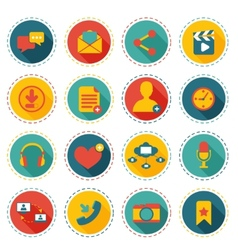 Social network icons vector image vector image