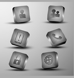 the set of different 3d buttons vector image vector image