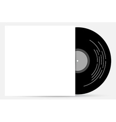 Vinyl cover mock up vector