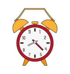 Analog alarm clock icon vector