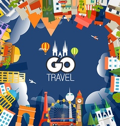 Travel concept go travel vector