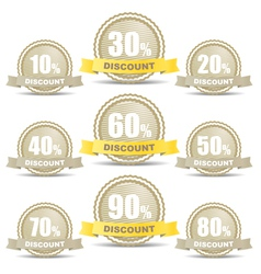 Shopping discount labels collection vector