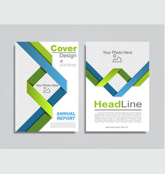 brochure design layout with place for data vector image