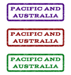 Pacific and australia watermark stamp vector