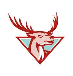 Deer stag buck head woodcut vector