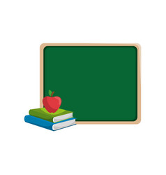 Blackboard with books vector