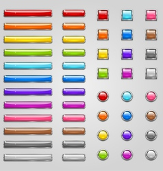 Colorful web buttons vector image