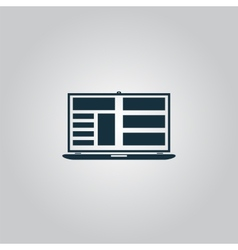 Notebook icon vector