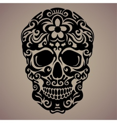 Ornamental art of a skull vector
