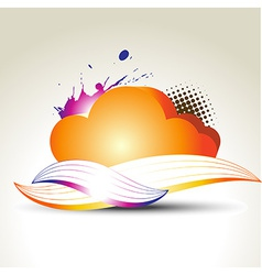 Colorful cloud vector